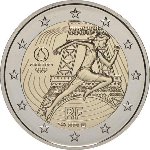 Rückseite:Frankreich : 2 Euro Läuferin  2021 bfr