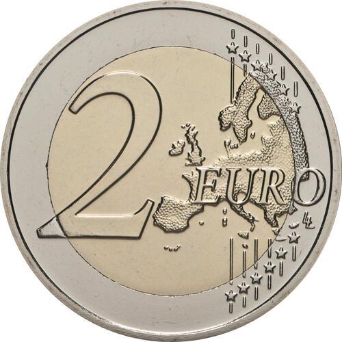Vorderseite:Belgien : 2 Euro 100. Jahrestag der Gründung der Belgisch-Luxemburgischen Wirtschaftsunion  2021 bfr
