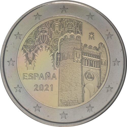 Rückseite:Spanien : 2 Euro Altstadt von Toledo  2021 PP