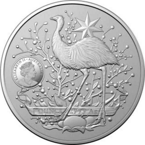 Vorderseite:Australien : 1 Dollar Australia´s Coat of Arms - Bullion 1 oz  2021 Stgl.