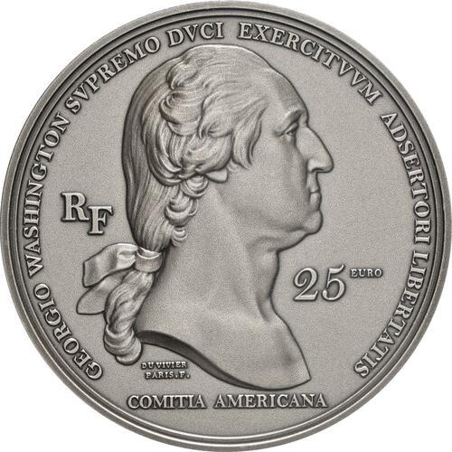 Rückseite:Frankreich : 25 Euro Washington  2021 PP