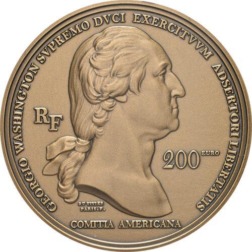 Vorderseite:Frankreich : 200 Euro Washington  2021 PP