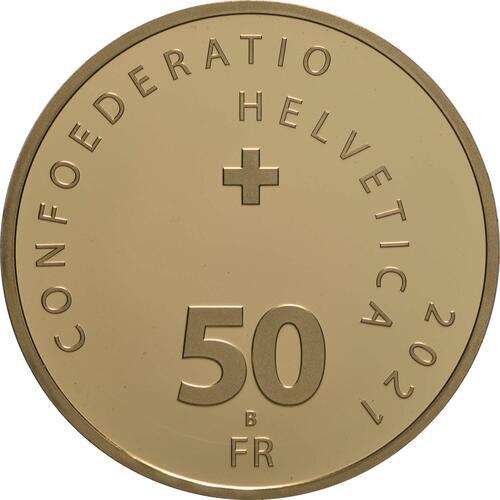 Rückseite:Schweiz : 50 sfr Frauenstimmrecht  2021 PP