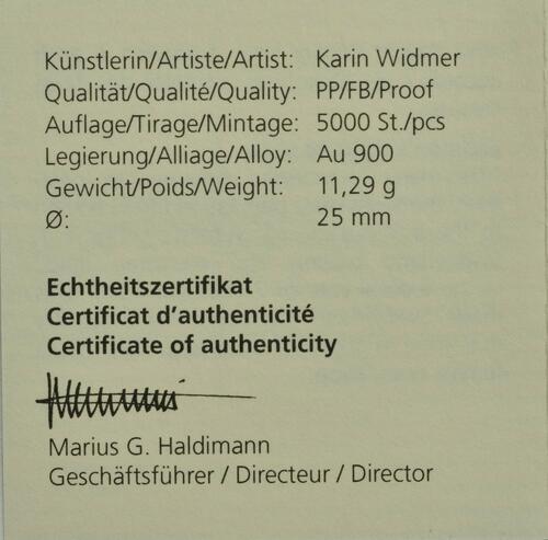 Zertifikat:Schweiz : 50 sfr Frauenstimmrecht  2021 PP