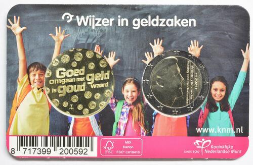 Zertifikat:Niederlande : 2 Euro Kursmünze, 10 Jahre Woche des Geldes 2021   2021 Stgl.