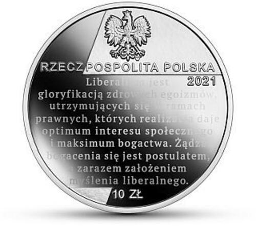 Rückseite:Polen : 10 Zloty Ferdynand Zweig - Ökonom  2021 PP
