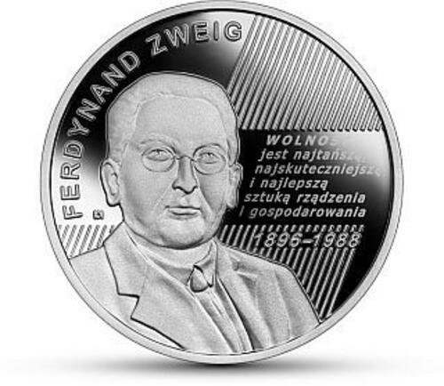 Vorderseite:Polen : 10 Zloty Ferdynand Zweig - Ökonom  2021 PP