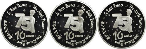 Rückseite:Frankreich : 10 Euro Set aus 3x10 Euro : Buch, Mond, Fuchs  2021 PP