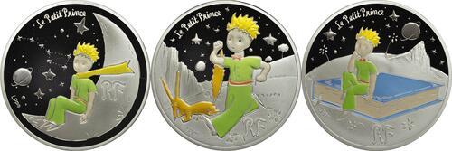 Vorderseite:Frankreich : 10 Euro Set aus 3x10 Euro : Buch, Mond, Fuchs  2021 PP