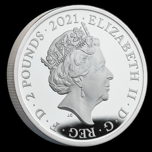 Rückseite:International : 2 Pfund Royaler Geburtstagssatz – 95 Jahre Königin Elizabeth II  2021 PP
