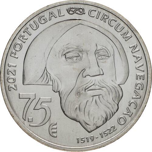 Rückseite:Portugal : 7,5 Euro 1521 Mactan  2021 bfr