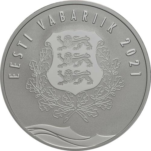 Rückseite:Estland : 8 Euro Hansestadt Parnu  2021 PP