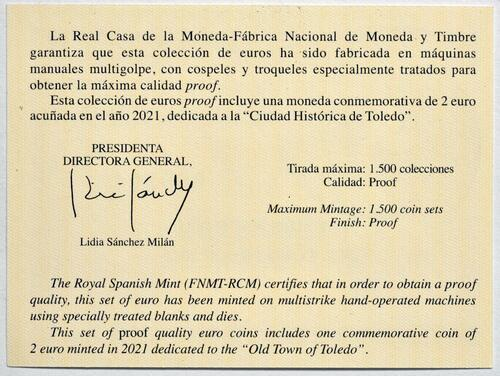 Zertifikat:Spanien : 5,88 Euro KMS Spanien  2021 PP