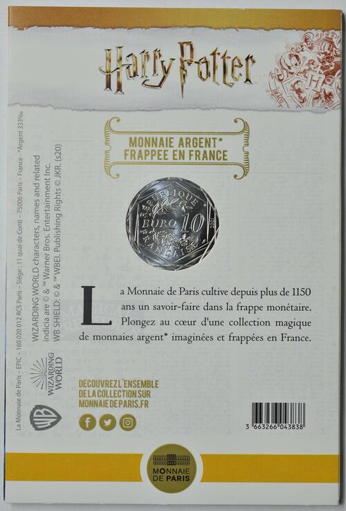Zertifikat:Frankreich : 10 Euro Der Stein der Weisen farbig 2/18  2021 Stgl.