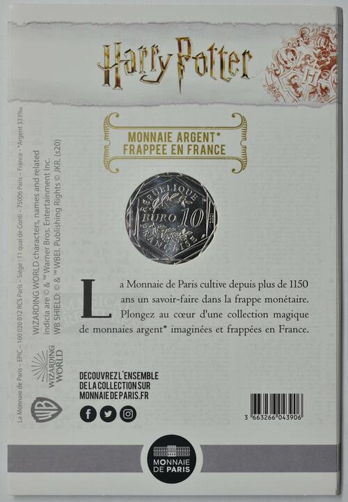 Zertifikat:Frankreich : 10 Euro Der Gefangene von Azkaban 5/18  2021 Stgl.