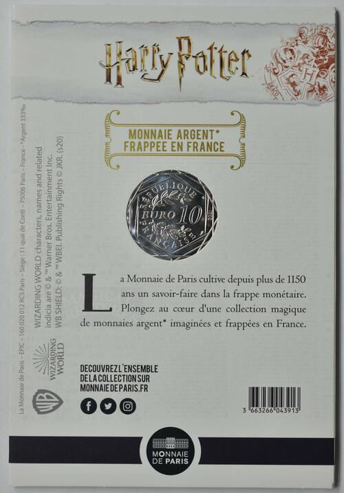 Zertifikat:Frankreich : 10 Euro Der Feuerkelch 7/18  2021 Stgl.