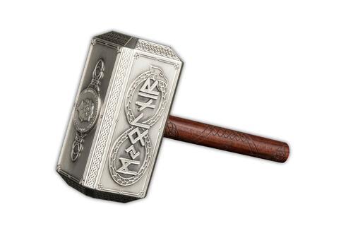 Vorderseite:Solomon Islands : 10 Dollar Thor's Hammer - Antique Finish  2021 Stgl.