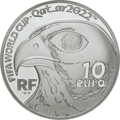 Rückseite:Frankreich : 10 Euro Fussball-WM in Quatar 2022  2021 PP
