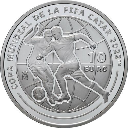 Vorderseite:Spanien : 10 Euro FIFA - Fußball WM Quatar 2022  2021 PP