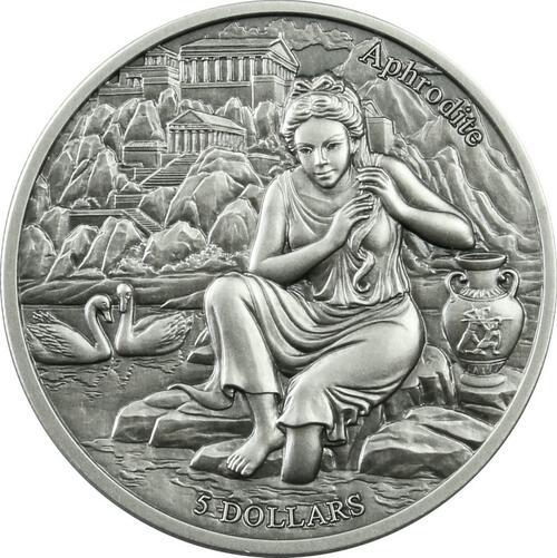Lieferumfang:Samoa : 5 Dollar Die zwölf Olympiers im Tierkreis - Aphrodite VS Stier  2021 Stgl.