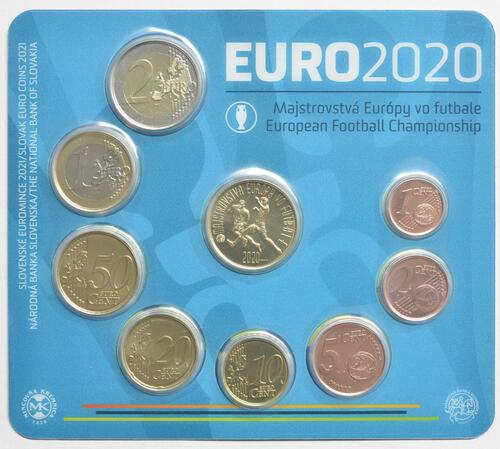 Vorderseite:Slowakei : 3,88 Euro KMS Slowakei Fußball WM 2020  2021 Stgl.