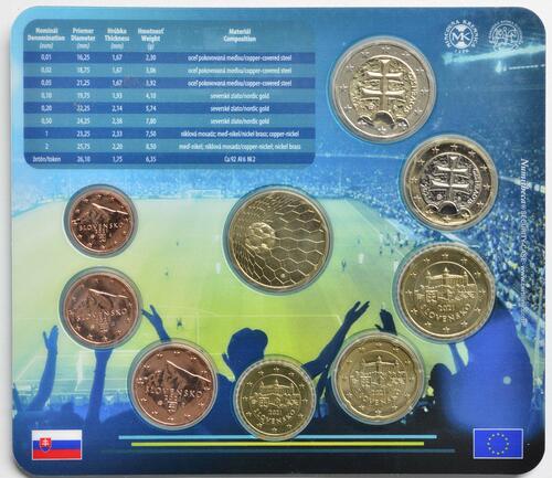 Zertifikat:Slowakei : 3,88 Euro KMS Slowakei Fußball WM 2020  2021 Stgl.