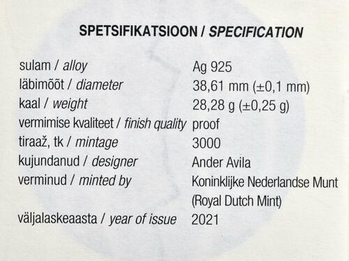 Zertifikat:Estland : 8 Euro Team Estland  2021 PP