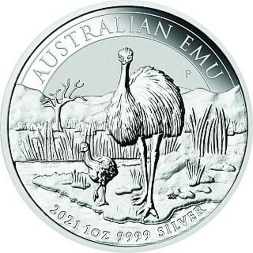 Lieferumfang:Australien : 1 Dollar Emu  2021 Stgl.