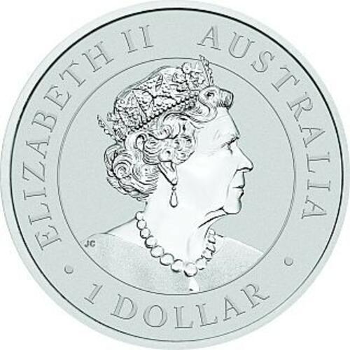 Vorderseite:Australien : 1 Dollar Emu  2021 Stgl.