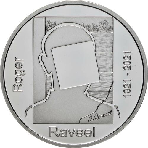 Vorderseite:Belgien : 20 Euro 100. Geburtstag Roger Raveel  2021 PP