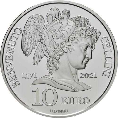 Vorderseite:San Marino : 10 Euro Benvenuto Cellini  2021 PP