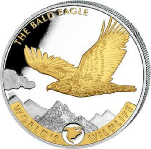 Lieferumfang:Kongo : 20 Fr Weißkopfseeadler vergoldet  2021 Stgl.