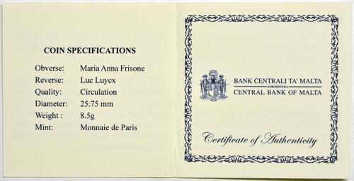 Zertifikat:Malta : 2 Euro Helden der Pandemie  2021 bfr