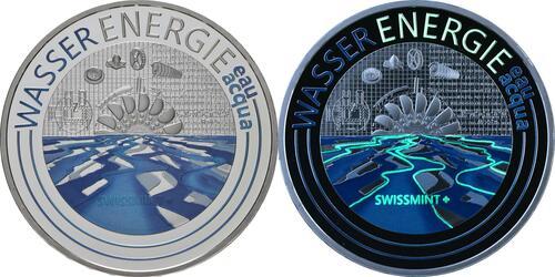 Vorderseite:Schweiz : 20 Franken Wasserenergie  2021 PP