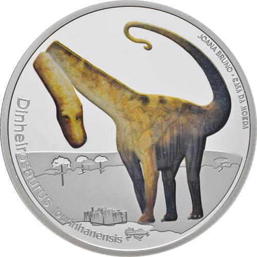 Vorderseite:Portugal : 5 Euro Dinheirosaurus Lourinha - leuchtet im Dunkeln  2021 PP
