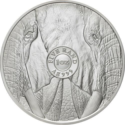 Rückseite:Südafrika : 50 Rand Big 5 Series II - Elefant  2021 Stgl.