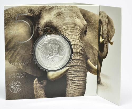 Lieferumfang:Südafrika : 50 Rand Big 5 Series II - Elefant  2021 Stgl.