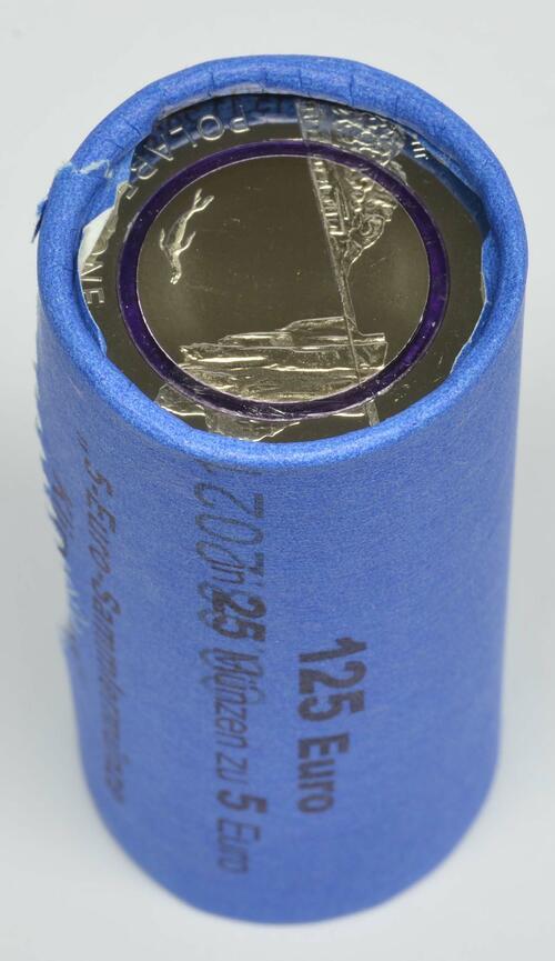Lieferumfang:Deutschland : 5 Euro Originalrolle 25x5 Euro = 125 Euro Polare Zone - violett  2021 bfr