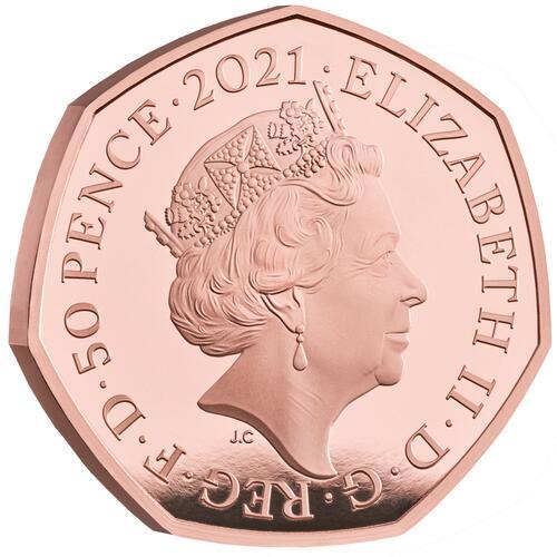 Rückseite:Großbritannien : 0,5 Pfund Charles Babbage - Gold - PP  2021 PP