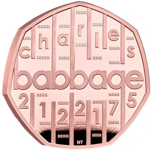 Vorderseite:Großbritannien : 0,5 Pfund Charles Babbage - Gold - PP  2021 PP