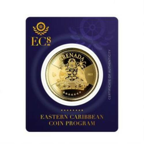 Lieferumfang:Grenada : 10 Dollar Grenada - Coat of Arms (Wappen) 1 oz Go St  2021 Stgl.