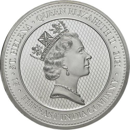 Rückseite:Saint Helena : 1 Pfund Napoleons Engel  2021 Stgl.