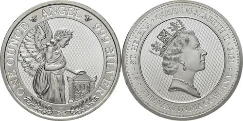 Lieferumfang:Saint Helena : 1 Pfund Napoleons Engel  2021 Stgl.