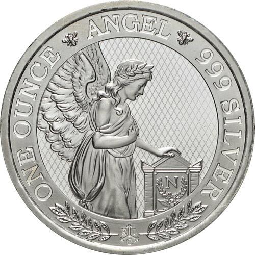 Vorderseite:Saint Helena : 1 Pfund Napoleons Engel  2021 Stgl.