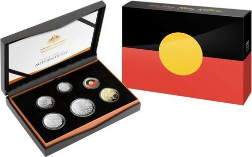 Lieferumfang:Australien : 3,85 Dollar Kursmünzensatz ´Aboriginal Flag´  2021 PP