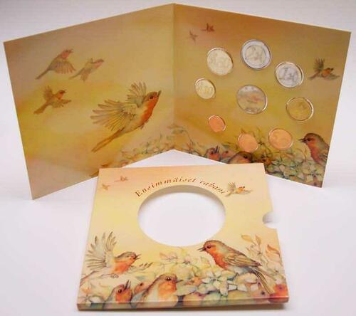 Lieferumfang:Finnland : 3,88 Euro original KMS Baby aus Finnland - enthält kompletten Kursmünzensatz 2003 + Medaille  2003 bfr