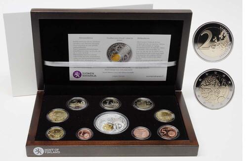 Lieferumfang:Finnland : 5,88 Euro original Kursmünzensatz der finnischen Münze inkl. 2 Euro Gedenkmünze  2010 PP KMS Finnland 2010 PP
