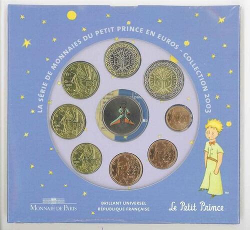Lieferumfang:Frankreich : 3,88 Euro Themensatz -kleiner Prinz-  2003 bfr KMS Frankreich 2003;kleiner Prinz