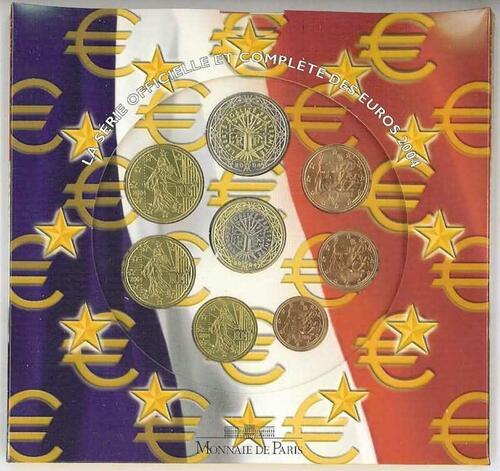 Lieferumfang:Frankreich : 3,88 Euro original Kursmünzensatz der französischen Münze  2004 Stgl. KMS Frankreich 2004