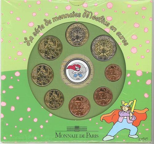 Lieferumfang:Frankreich : 3,88 Euro Themensatz - Moebius -  2005 bfr KMS Frankreich 2005;Moebius